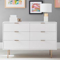 Teen Dresser, Wide Dresser, Dresser Sets, Modern Dresser, Ikea Malm Dresser, Girls Bedroom Furniture, Bedroom Dressers, Apartment Furniture, Bedroom Decor