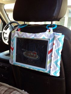 A Rilos & MiMi Tablet Traveler Case can be hooked to many places including car head rests, car seat handle and strollers to keep your little ones