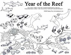 coral reef | coloring | pinterest | coral reefs, coloring books ... - Coral Reef Coloring Pages Kids