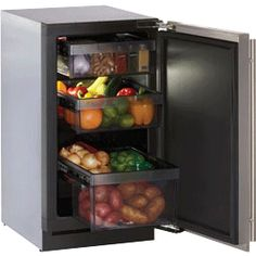 3018RF, Refrigerators, 3.4 cu. ft. Compact Refrigerator / Digitally Controlled Convection Cooling / Right Hand Pull / Stainless Steel