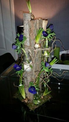 Bloemschikken on pinterest kerst bloemen and floral arrangements - Blauwe turquoise decoratie ...