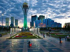 Picture of the Baiterek Monument in Kazakhstan
