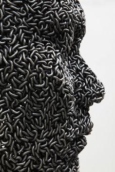Bicycle Chain Human Sculptures - My Modern Metropolis