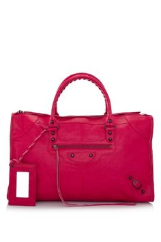 Balenciaga Classic Work  Color: Rose Thulian (Designer Color)  Material: Vintage Crafted Lambskin Leather, Cotton Canvas