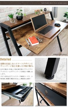Table Desk, House, Furniture, Home Decor, Ideas, Desktop, Wood, Decoration Home, Writing Desk