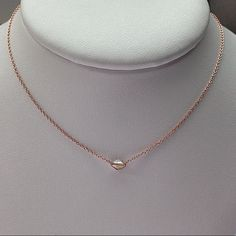 18K rose gold & diamond necklace #silvercontinent