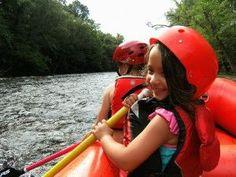 Children love rafting with Smoky Mountain Outdoors
