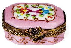 Mini Cartel Limoges Box, Pink