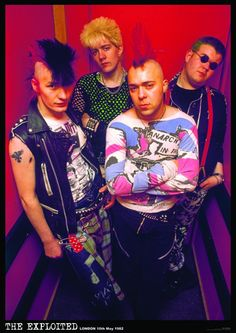 A1 size poster of The Exploited in 1981