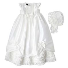 629a4e35c jcpenney | Wendy Bellissimo™ 2-pc. Shantung Christening Set - Girls 3m-