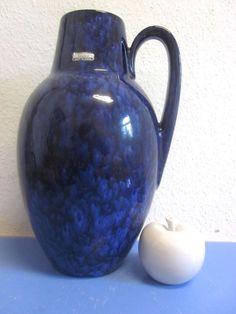 Grosse Vase Bodenvase Scheurich blaue Lava von Designclassics24