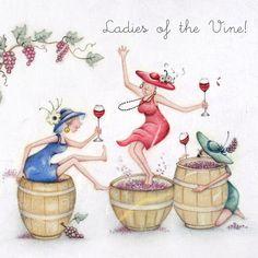 Cards » Ladies of the Vine » Ladies of the Vine - Berni Parker Designs