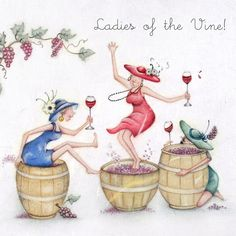 Cards » Ladies of the Vine » Ladies of the Vine - Berni Parker Designs