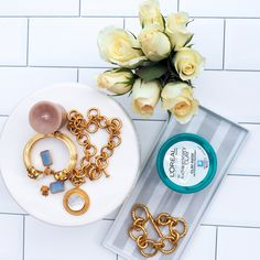 : district dress up blogger jewels tumblr jewelry gold jewelry necklace gold necklace gold bracelet Statement Jewelry, Gold Jewelry, Jewelry Necklaces, Gold Necklace, Bracelets, Loreal Mask Clay, All The Small Things, Clay Masks, Earmuffs