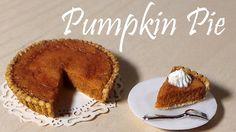 Thanksgiving Dinner #3; Pumpkin Pie - Polymer Clay Tutorial