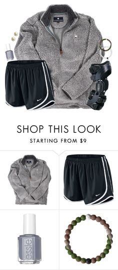 """""""outfit of right now :))"""" by kaley-ii ❤ liked on Polyvore featuring NIKE, Essie and Carolee"""