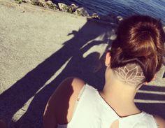 #undercut #hairtattoo #lotus #lotusflower