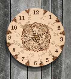 Practice your pen strokes and shading with this pyro-tangle wall clock in Pyrography Spring 2016. Order a copy of Pyrography Spring 2016 at http://woodcarvingillustrated.com/blog/the-spring-2016-pyrography-special-issue-is-available-now/