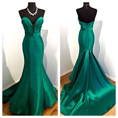 2017 Custom Made Charming Mermaid Prom Dress, Sexy Sweetheart Evening Dress,V-Neck Prom Dress