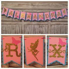 Fairy Banner Fairy Birthday Woodland Fairy by EricasCrafties $35