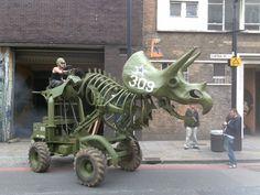 At MutateBritain: Wreckage rolls his Dinosaur around the corner…