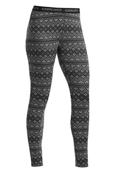 Icebreaker Womens Vertex Icon Fair Isle Leggings Jet HeatherBlackSnow XLarge >>> Continue to the product at the image link. (Note:Amazon affiliate link)