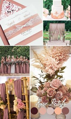 Dusty rose wedding inspiration, Mauve wedding color trends