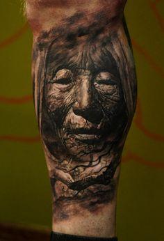 I want a Pocahontas tattoo!!  Tattoo by Domantas Parvainis at Totemas Tattoo in Saiuliu Apskritis, Lithuania