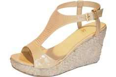 Butter's Geo Wedge in Nude Patent. So cute! #summersandals