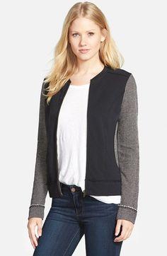 Caslon® Mixed Knit Bomber Jacket at Nordstrom.com.