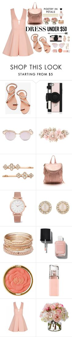 """""""Untitled #3"""" by starmarks ❤ liked on Polyvore featuring Elina Linardaki, Kate Spade, Le Specs, Accessorize, Henri Bendel, Larsson & Jennings, Red Camel, Chanel, Milani and HUGO"""