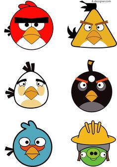 We have Angry Bird Clipart in high quality for every taste. Cumpleaños Angry Birds, Festa Angry Birds, Vogel Clipart, Bird Clipart, Drawing For Kids, Art For Kids, Bird Birthday Parties, Bird Template, Bird Party