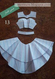 Best 12 Ideas for skirt full circle pattern Diy Barbie Clothes, Barbie Clothes Patterns, Sewing Clothes, Clothing Patterns, Diy Clothes, Kids Dress Patterns, Skirt Patterns Sewing, Pattern Skirt, Circle Pattern