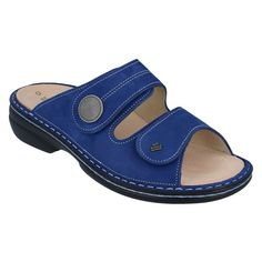 Beautiful cobalt blue leather uppers, you won't find another pair of comfortable sandals like these. Shop today for your favorite Finn Comfort styles! Comfortable Sandals, Comfortable Fashion, Flowy Summer Dresses, Soft Suede, Ankle Straps, Cobalt Blue, Pairs, Spring, Shop