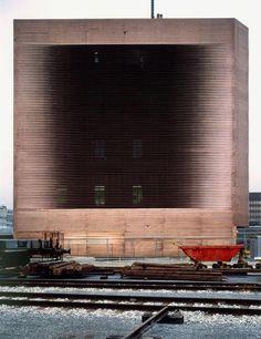 Herzog & de Meuron - Stellwerk - Railway signal box auf dem Wolf, Basel 1994. Copper.