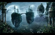 Floating islands ~ By graphic artist Whendell