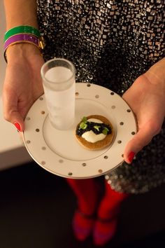 Caviar & Vodka Shots | New Year's Eve Party with Kate Spade | Camille Styles