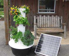 Sun powered Tower Garden