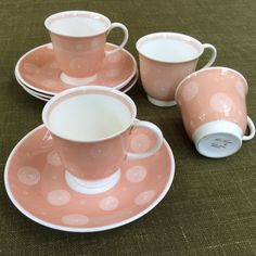 Susie Cooper - set of 4 1950's demitasse coffee cups and saucers