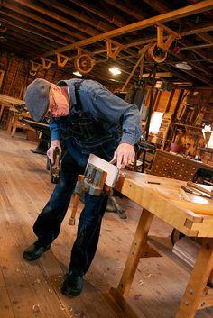 Planing a board in the Stuhr Museum planing mill | Flickr - Photo Sharing!