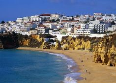 Coast of Albufeira Portugal Had a great vacation there with my husband and at the time 3y old son.  Nice place, warm and the old town was the best