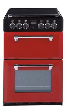 550E Richmond Mini Range  550mm wide Electric Cooker  Main Cavity Features  Main fan oven with twin side lights  3 button LED clock & programmer  Easy clean enamel interior  A energy rating  Top Cavity Features  Top electric conventional oven & electric grill  B energy rating