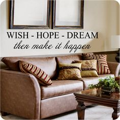 Wish Hope Dream Vinyl Wall Art Decals. Price £10.99. Free UK P&P. Choice of Colour  We Accept Paypal