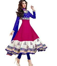 Buy multicolor embroidered georgette semi stitched salwar with dupatta anarkali-salwar-kameez online