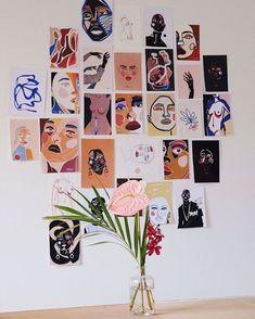 Aesthetic Room Decor, Wall Collage, Art Inspo, Art Drawings, Cool Art, Art Projects, Illustration Art, Illustrations, Canvas Art