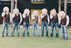 country wedding groomsmen - Google Search