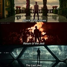 Skywalker parallels; This is like the one I pinned earlier, where Rey was the one for The Last Jedi.