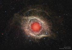 NASA Astronomy Picture of the Day 2016 September 20 The Helix Nebula in Infrared What makes this cosmic eye look so red? The featured image from the robotic Spitzer Space Telescope shows infrared light from the well-studied Helix Nebula (NGC. Helix Nebula, Planetary Nebula, Orion Nebula, Andromeda Galaxy, Carina Nebula, Planetary System, Planetary Science, Sistema Solar, Cosmos