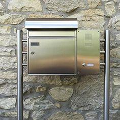 SafePost 65- Paketbriefkasten - anthrazitgrau - mit Paketfach - Standbriefkasten - Briefkasten