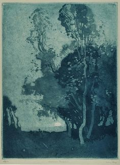 Sydney Long Etching and aquatint,